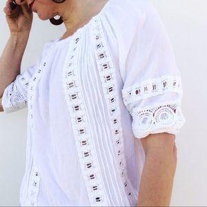 ⭐️5/$25⭐️ Cynthia Rowley XS Boho White Top